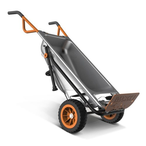 WORX Aerocart Multifunction 2-Wheeled Yard Cart, Dolly, and Wheelbarrow with Flat Free Tires – WG050-Garden Carts