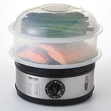 Aroma Housewares 5-Quart Food Steamer, Stainless Steel - Electric Food Steamers