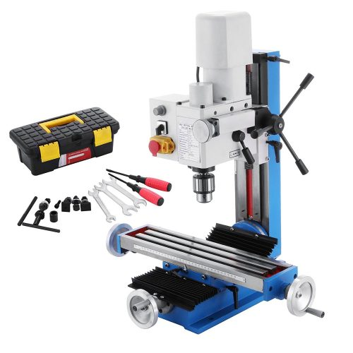 Mophorn Mini Milling Machine 2500RPM 550W Mill Drill Machine Variable Speed 7Inch Headstock Travel Micro Milling Drilling Machine 12mm T Slot Metal Gears (550W Milling Machine) - Milling machines