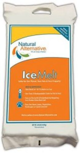 Natural Alternative® Ice Melt Another NATURLAWN® Product - 20 Lb Bag - Safer for Pets, Property & the Environment - Ice Melters
