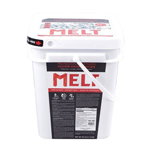 Snow Joe MELT25CCP-BKT 25-lb Flip-Top Bucket with Scoop Professional Strength Calcium Chloride Pellet Ice Melt - Ice Melters