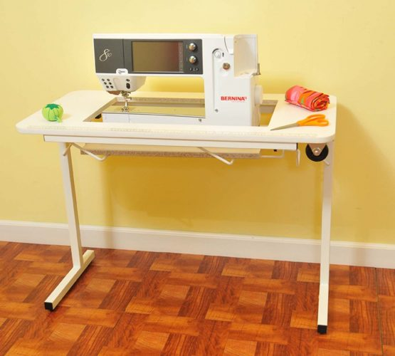 ARROW GADGET II SEWING MACHINE AND CRAFT TABLE (WHITE)- SEWING CABINET