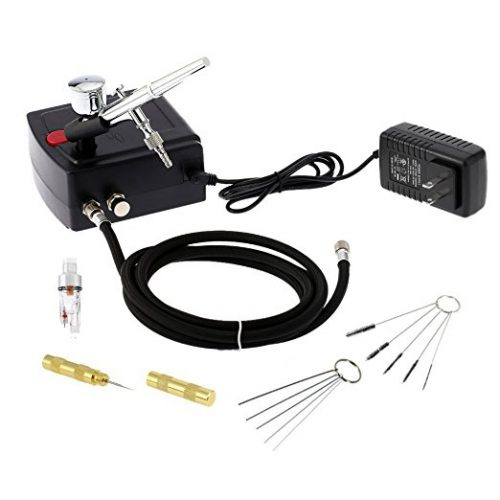 Cafego Dual Action Airbrush Air Compressor Kit aerografo for Art Painting Tattoo Manicure Craft Cake Spray Model Air Brush Nail Tool Set - Airbrush Compressors