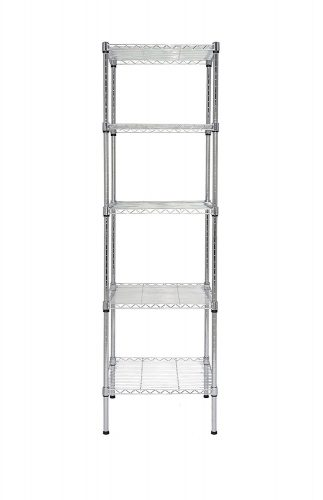 Finnhomy Heavy Duty 5 Tier Wire Shelving Unit NSF CERTIFIED 5 Shelves Storage Rack with Wheels Thicken Steel Tube - collapsible storage rack