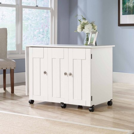 SAUDER SEWING CRAFT (SOFT WHITE)- SEWING CABINET