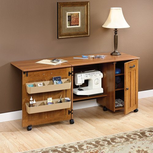 SEWING/CRAFT CENTER (FOLDING TABLE)- SEWING CABINET