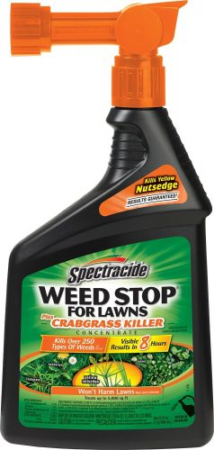 WEED STOP FOR LAWNS PLUS CRABGRASS KILLER CONCENTRATE (PACK OF SIX, HG-95703) FROM SPECTRACIDE - Weed killer