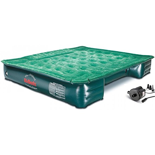 """AirBedz Lite (PPI PV202C) Full-Size Short and Long 6'-8' Truck Bed Air Mattress with DC Corded Pump (76""""x63""""x12"""" Inflated)"""