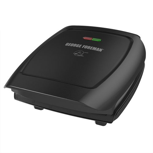 George Foreman 4-Serving Classic Plate ElectricIndoor Grill and Panini Press, Black, GR2060B-Panini Makers
