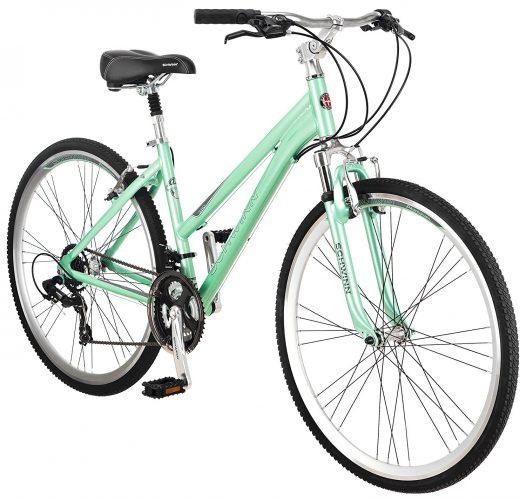 Schwinn Women's Siro Hybrid Bicycle 700c Wheel Small Frame Size, Light Green