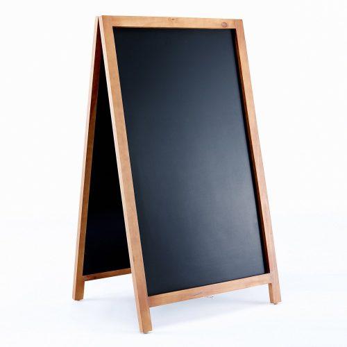 "Vintage wooden magnetic A-frame chalkboard 42"" by 24."""