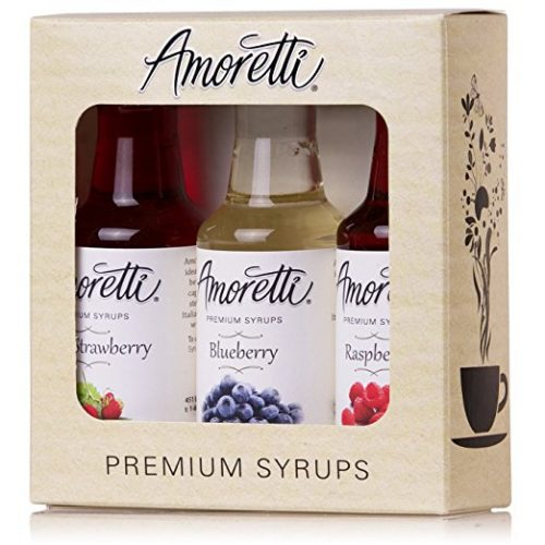 Amoretti Premium Berry Syrups 50ml 3 Pack (Wild Strawberry, Blueberry, Raspberry)