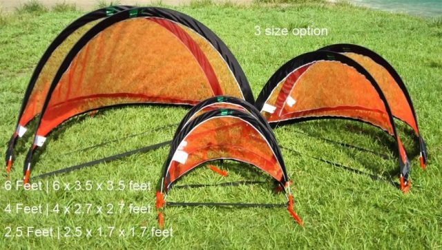 GreEco Set of 2 Pop up Goals Foldable Gate - Pair of 4FT Soccer Goals or 5FT FPV Racing Gate Option