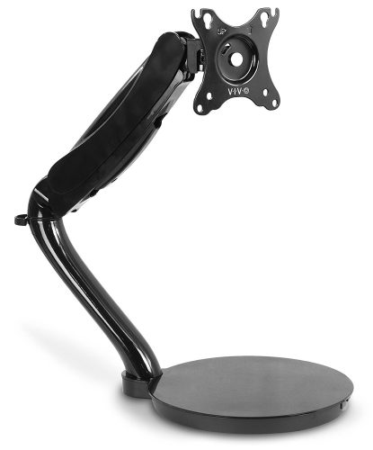"""VIVO Black Height Adjustable Counterbalance Free-Standing Deluxe Gas Spring Arm Mount Tabletop Stand for 13"""" - 27"""" Screen (STAND-V001R)"""