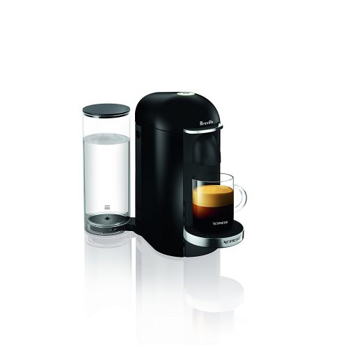 Nespresso VertuoPlus Deluxe Coffee and Espresso Maker by Breville, Black