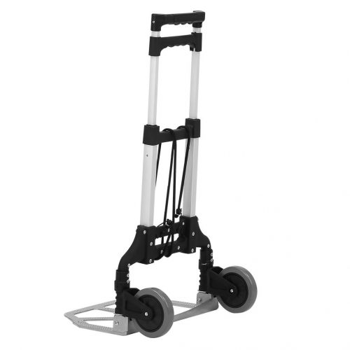 Finether Folding Hand Truck Dolly, 80Kg/176.4 lbs Heavy Duty 2-wheel Aluminum Cart Compact and Lightweight for Luggage, Travel, Auto, Moving and Office Use
