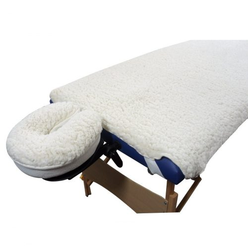 TOA Supply New Deluxe EarthGear Massage Table Sheet Fleece Cover & Face Rest Pad Set