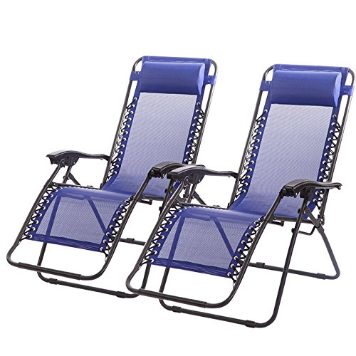 reclining beach chairs cool camping top 10 chair in 2019 highly recommend set of 2 zero gravity lounge patio outdoor yard blue