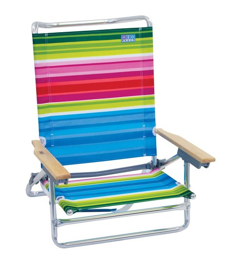 RIO Gear Rio Brands 5 Position Classic Lay Flat Beach Chair