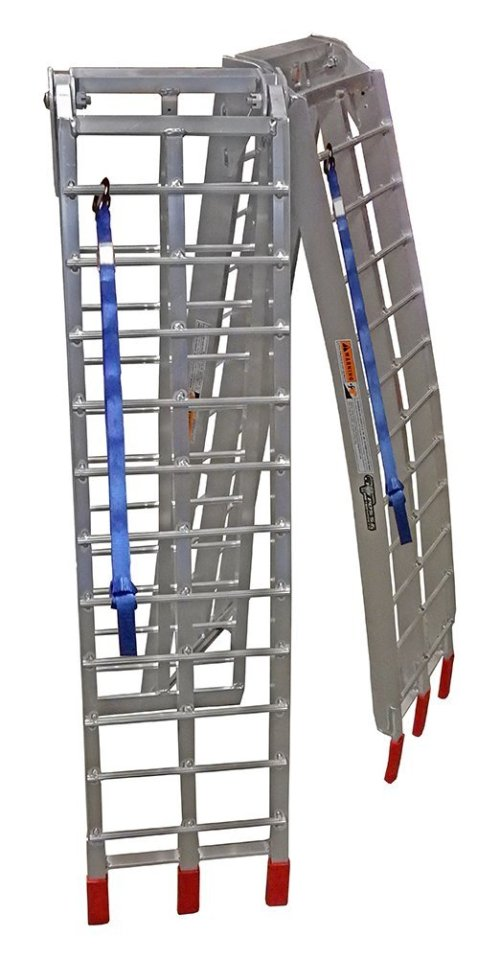 "Pit Posse PP2755P Pair Of Lawnmower ATV Loading Ramps Folding Aluminum 89"" 1500lb Rated"