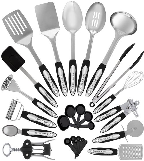 Stainless Steel Kitchen Utensil [Set of 25 cooking Utensils]