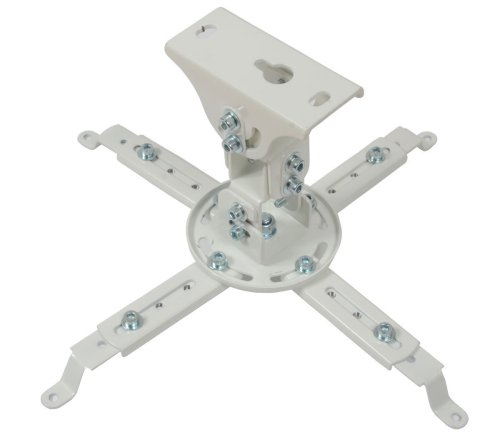 VideoSecu Universal LCD/DLP Swivel Tilt Projector Bracket Fits Flat and Vaulted Ceiling PJ1W WU8