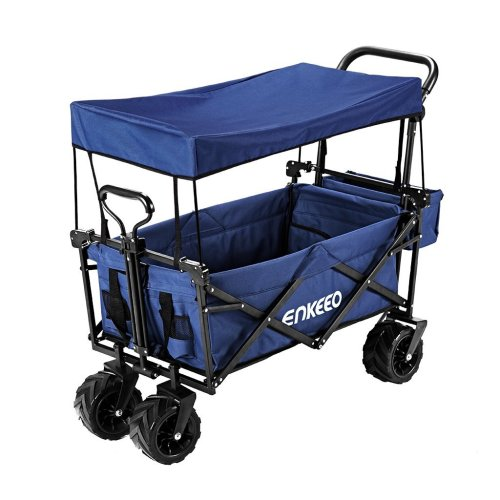 ENKEEO Foldable Utility Wagon [Collapsible Sports Outdoor] Cart