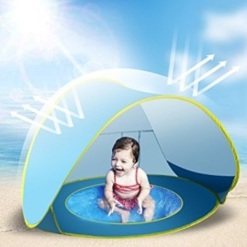 Brilliant Beach Pool Tent Baby Quick Pop Game House Easy To Fold Portable Mini Pool For Kids Children With Shade And Windproof Comfort Activity & Gear Swimming Pool