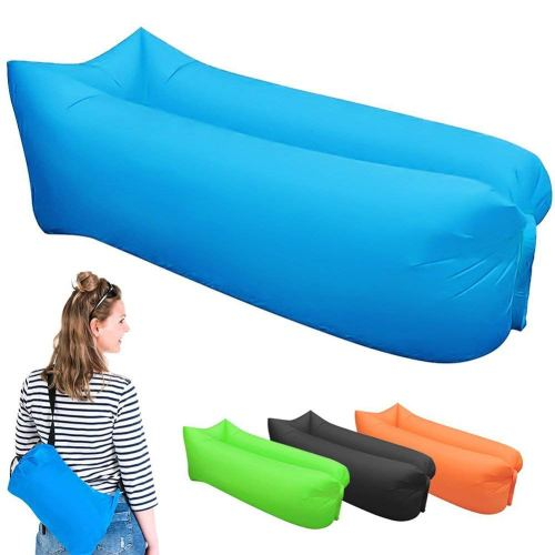 Inflatable Lounger Air Sofa Chair with U-shape neck pillow - Outdoor Hammock Portable Air Sofa Bag - Hangout Air Couch Sleeping Bag For Hiking, Camping, Picnics and Music Festivals