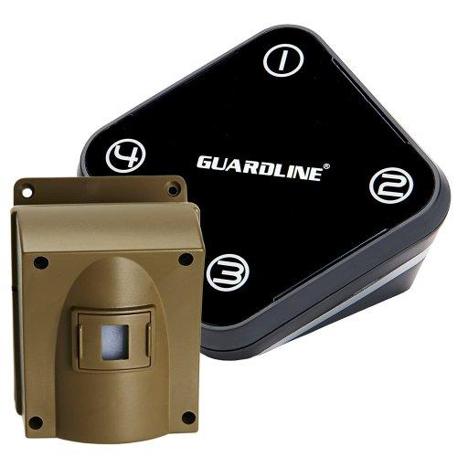 Guardline Wireless Driveway Alarm w/ Two Sensors Kit. Top Rated Outdoor Weatherproof Motion Sensor/Detector- Best DIY Wifi Security Alert System- Protect Home, Perimeter, Yard, Garage, Gate, Pool