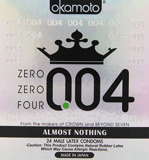 Okamoto 0.04 Zero [4 Condoms] 24 Pack