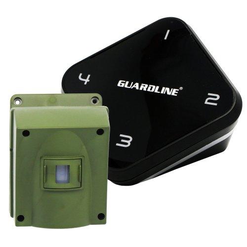 1/4 Mile Long Range Wireless Driveway Alarm- Top Rated Outdoor Weatherproof Motion Sensor & Detector- Best DIY Security Alert System- Monitor & Protect Outside Property, Yard, Garage, Gate, Pool
