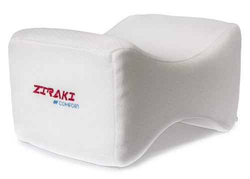Ziraki memory foam wedge contour orthopedic knee pillow for sciatica nerve relief, back, leg, hip and joint pain, leg support, spine alignment, pregnancy