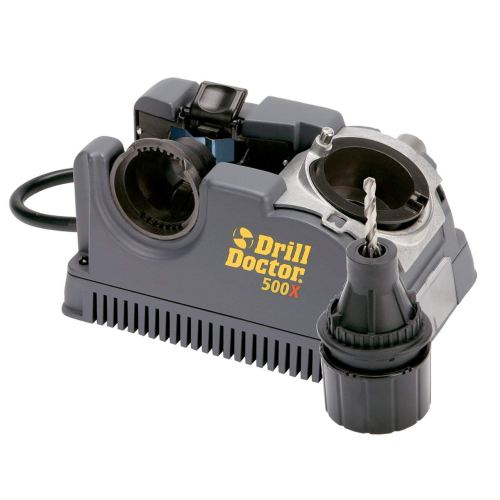 "Drill Doctor 500x Drill Bit Sharpener, Professional Design & Construction for Durability with Industrial-Strength Diamond Sharpening Wheel, Set Point Angles at 118° & 135°, Sharpens 3/32"" to 1/2"" standard twist bits"