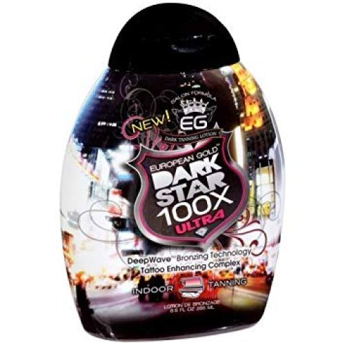 European Gold Dark Star 100x Ultra Indoor Tanning Lotion, 8.5 fl oz.