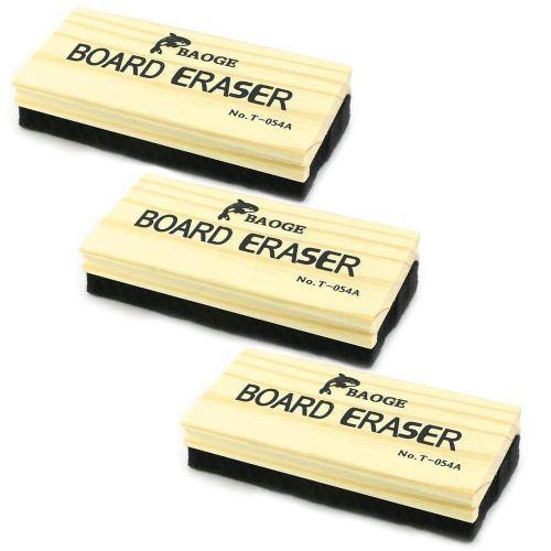 TKOnline 3 Pack Premium Wool Felt Chalkboard Eraser Dustless Wood Chalkboard Eraser