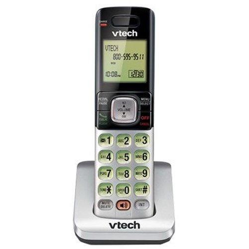 VTech CS6709 DECT 6.0 Phone with Caller ID/Call Waiting, 1 Cordless Accessory Handset, Silver - Cordless Phones