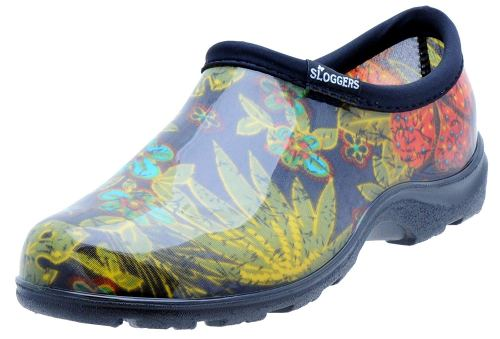 Sloggers Women's Waterproof Rain and Garden Shoe with Comfort Insole, Midsummer Black, Size 9 Style 5102BK09 - Gardening boots