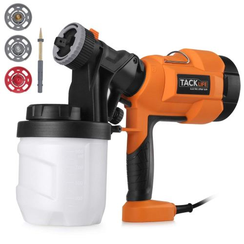 Paint Sprayer 800ml/min, Electric Spray Gun with Three Spray Patterns, Four Nozzle Sizes, Adjustable Valve Knob, Quick Refill Lid and 900ml Detachable Container