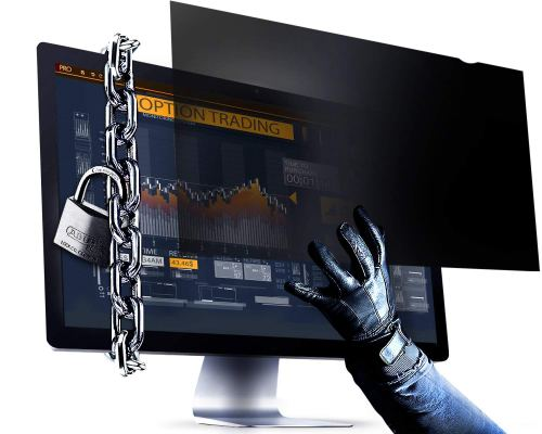 VINTEZ NEW 21.5 Inch (Diagonally Measured) Computer Privacy Screen Filter - Anti-Scratch, Anti-Glare Protector for Widescreen Monitors - 16:9 Aspect Ratio