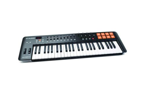M-Audio Oxygen 49 MKIV | 49-Key USB MIDI Keyboard & Drum Pad Controller (8 Pads/8 Knobs/9 Faders), VIP Software Download Included
