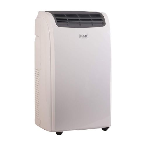 BLACK+DECKER 8000 BTU Portable Air Conditioner Unit, Remote, LED Display, Window Vent Kit, 4 Caster Wheels, White