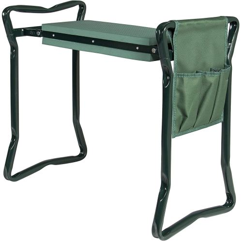 Best Choice Products Foldable Garden Kneeler and Seat With Bonus Tool Pouch Portable Stool EVA Pad