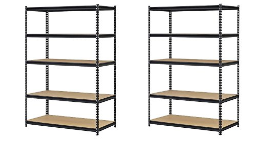 Edsal URWM184872BK Black Steel,5 Adjustable Shelves