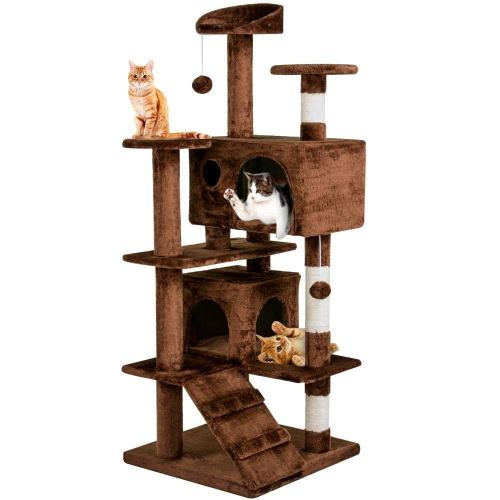 "Yaheetech 51.2"" Cat Tree Tower Condo Furniture Scratch Post for Kittens Pet House Play B0794T79KM"