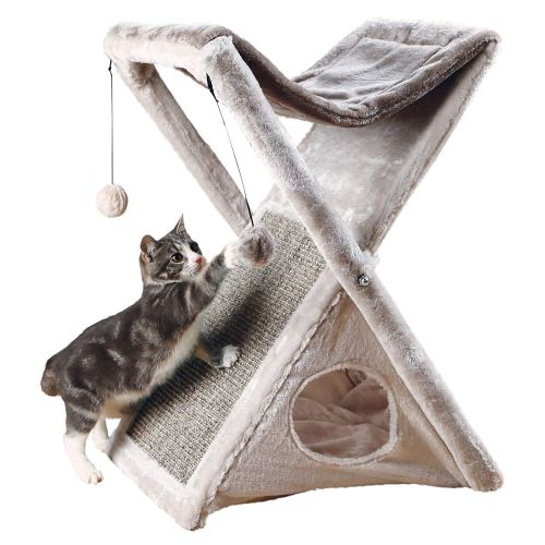 TRIXIE Pet Products Miguel Fold and Store Cat Tower