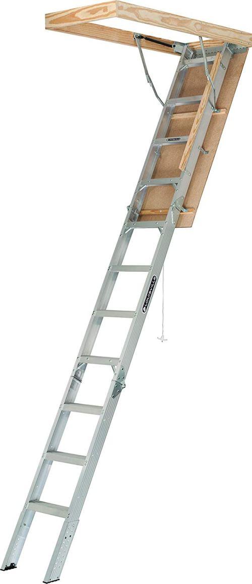 Louisville Ladder 22-1/2 x 54-Inches Elite Aluminum Attic Ladder, 375 Pound Load Capacity, Type IAA, AA2210