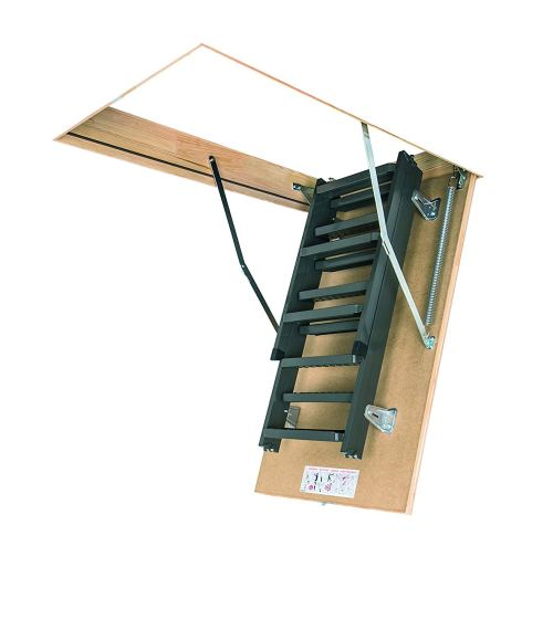 FAKRO LMS 66869 Insulated Steel Attic Ladder for 30-Inch x 54-Inch Rough Openings
