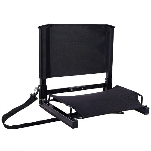 Ohuhu Stadium Seats Bleacher Seat Chairs with Backs and Cushion, Folding & Portable, Bonus Shoulder Straps