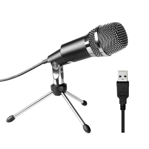 FIFINE TECHNOLOGY USB Microphone,Fifine Plug &Play Home Studio USB Condenser Microphone for Skype, Recordings for YouTube, Google Voice Search, Games(Windows/Mac)-K668
